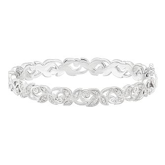 Neil Lane 14ct White Gold 0.29ct Diamond Vine Bangle - Product number 8596107