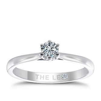 Leo Diamond 18ct Platinum 1/5ct ct I-P1 Diamond Ring - Product number 8596298