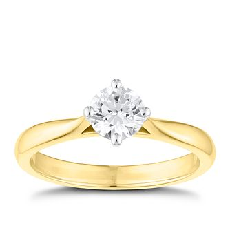 Tolkowsky 18ct Yellow Gold 0.54ct Diamond Solitaire Ring - Product number 8598800
