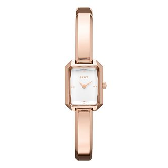 DKNY Cityscape Ladies' Rose Gold Tone Bangle Watch - Product number 8599491