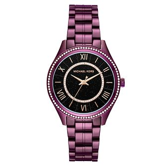 Michael Kors Ladies' Purple Ion Plated Bracelet Watch - Product number 8600287