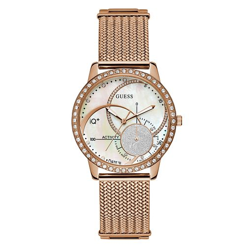 Guess Active IQ Ladies' Rose Gold Tone Bracelet Smartwatch - Product number 8600414