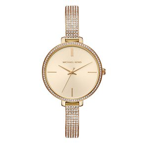 Michael Kors Jaryn Ladies' Yellow Gold Tone Stone Set Watch - Product number 8600503