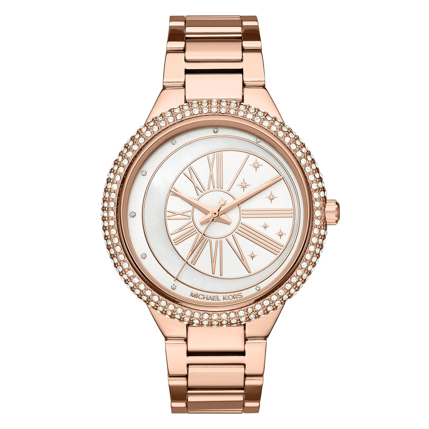 Michael Kors Jaryn Ladies' Rose Gold Tone Stone Set Watch - Product number 8600570