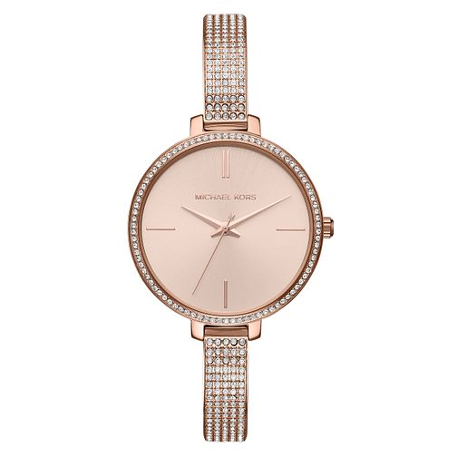 Michael Kors Jaryn Ladies' Rose Gold Tone Stone Set Watch - Product number 8600686