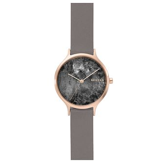 Skagen Anita Ladies' Rose Gold Tone Grey Dial Watch - Product number 8600856