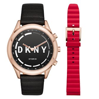 DKNY Minute Ladies' Rose Gold Tone Hybrid Smartwatch - Product number 8600937