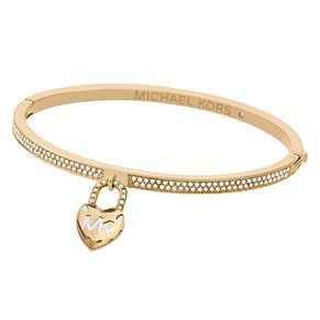 Michael Kors Ladies' Yellow Gold Tone Heart Bangle - Product number 8601240