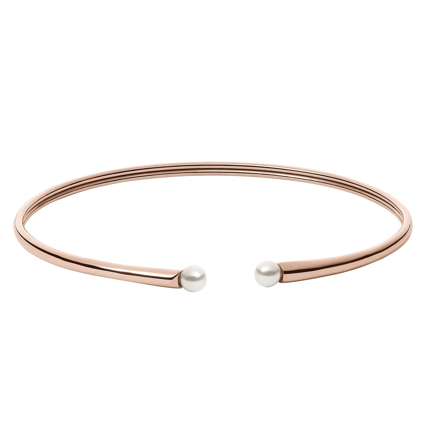 Skagen Agnethe Ladies' Rose Gold Tone Pearl Bangle - Product number 8601372