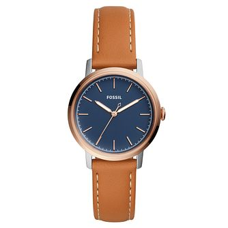 Fossil Neely Ladies' Two Colour Blue Strap Watch - Product number 8601593