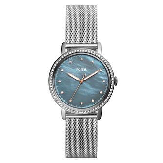 Fossil Neely Ladies' Grey Mother of Pearl Bracelet Watch - Product number 8601631