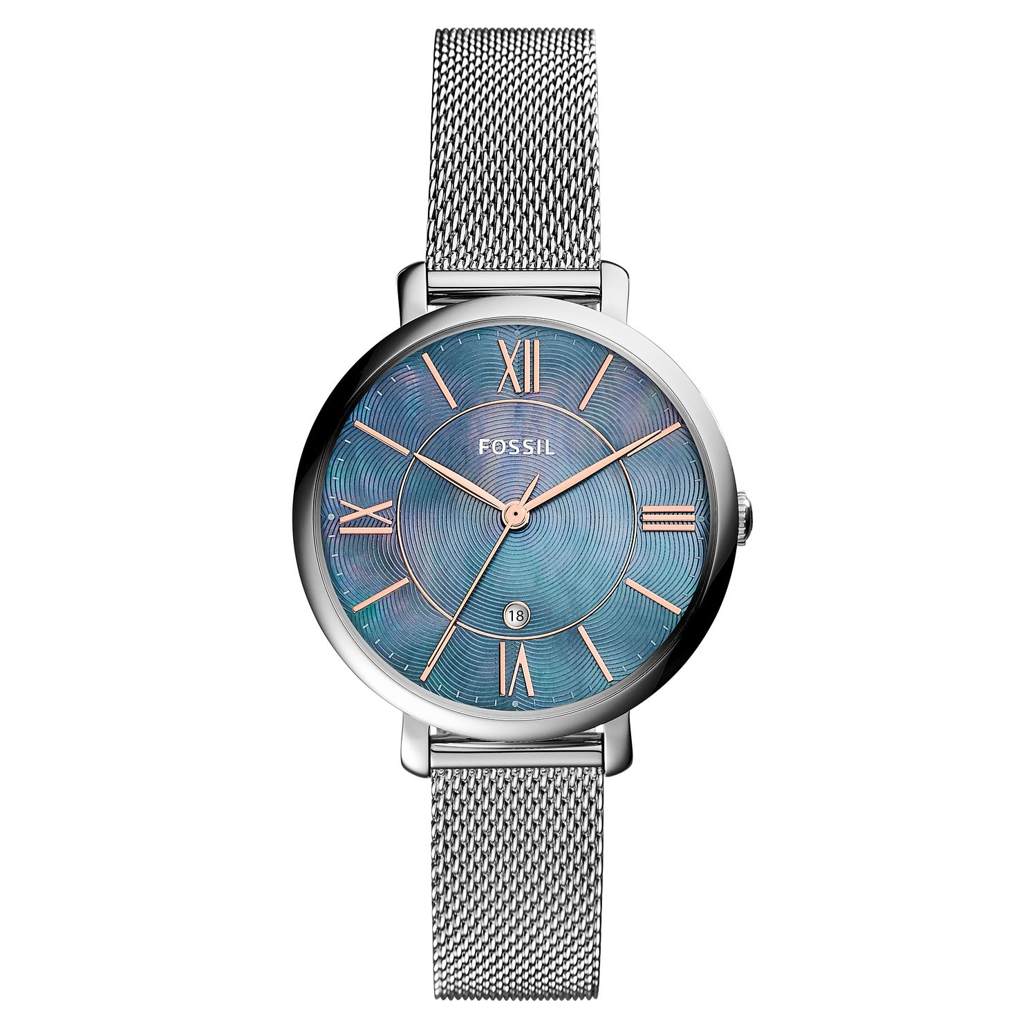 Fossil Jacqueline Ladies' Blue Mother Of Pearl Watch - Product number 8601690