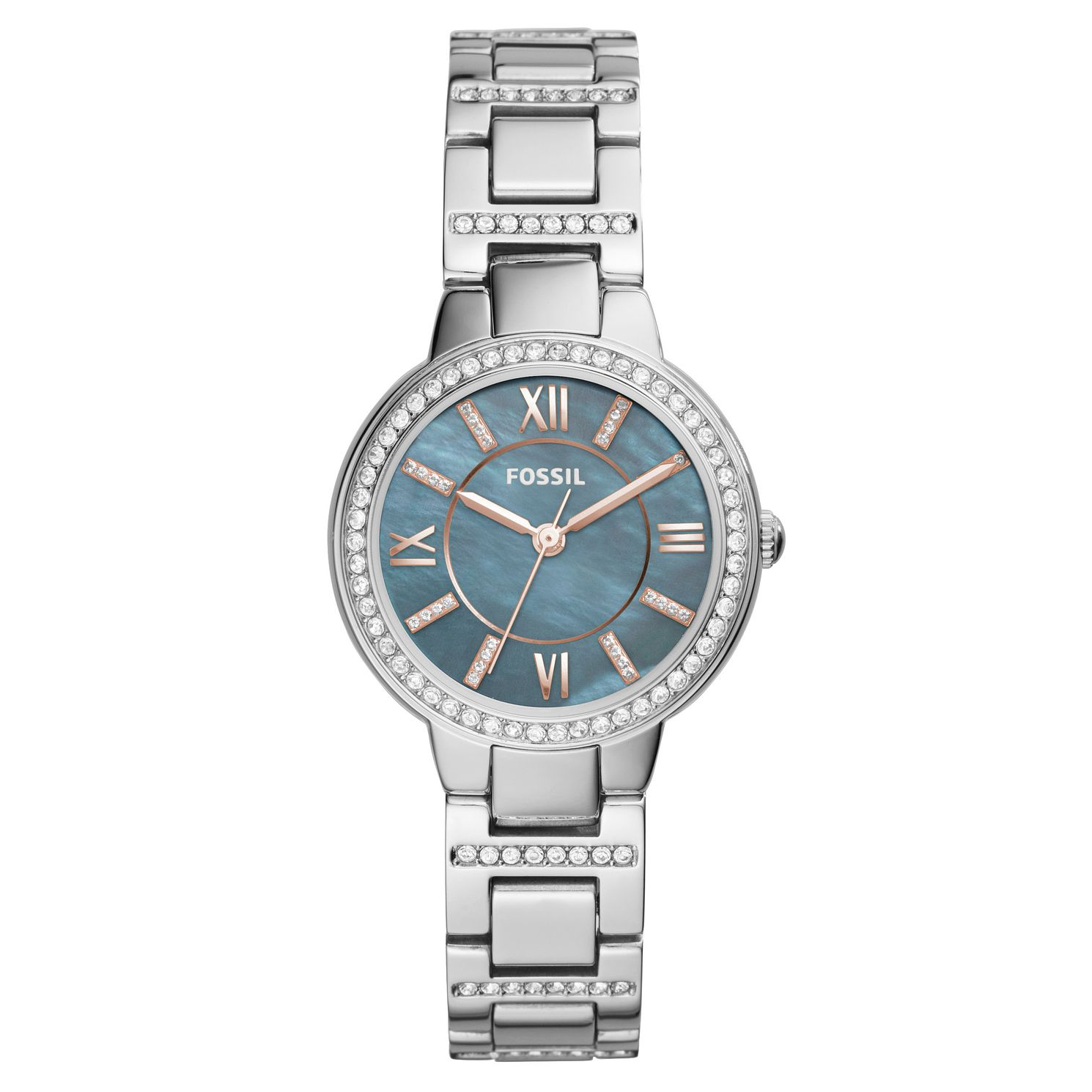 Fossil Virginia Ladies' Grey Stone Set Bracelet Watch - Product number 8601704