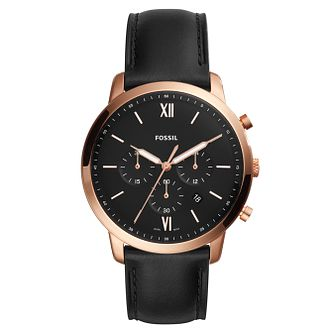 Fossil Neutra Men's Rose Gold Tone Chronograph Watch - Product number 8601763