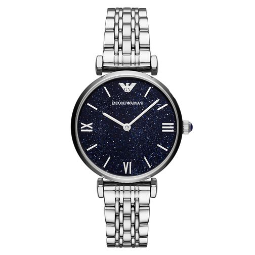 Emporio Armani Ladies' Round Blue Dial Bracelet Watch - Product number 8601852