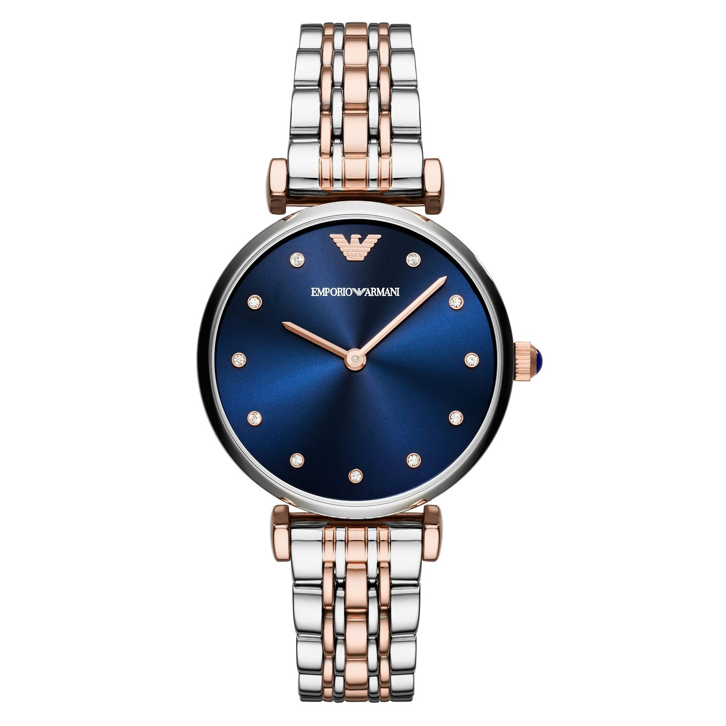 Emporio Armani Ladies' Two Colour Blue Dial Bracelet Watch - Product number 8601860