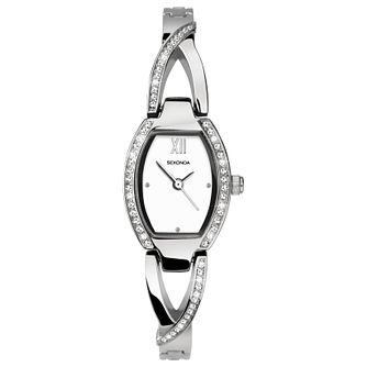 Sekonda Ladies' Silver Tone Semi-Bangle Bracelet Watch - Product number 8602158
