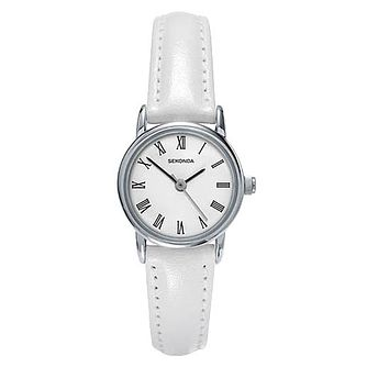 Sekonda Ladies' White Leather Strap Watch - Product number 8602328