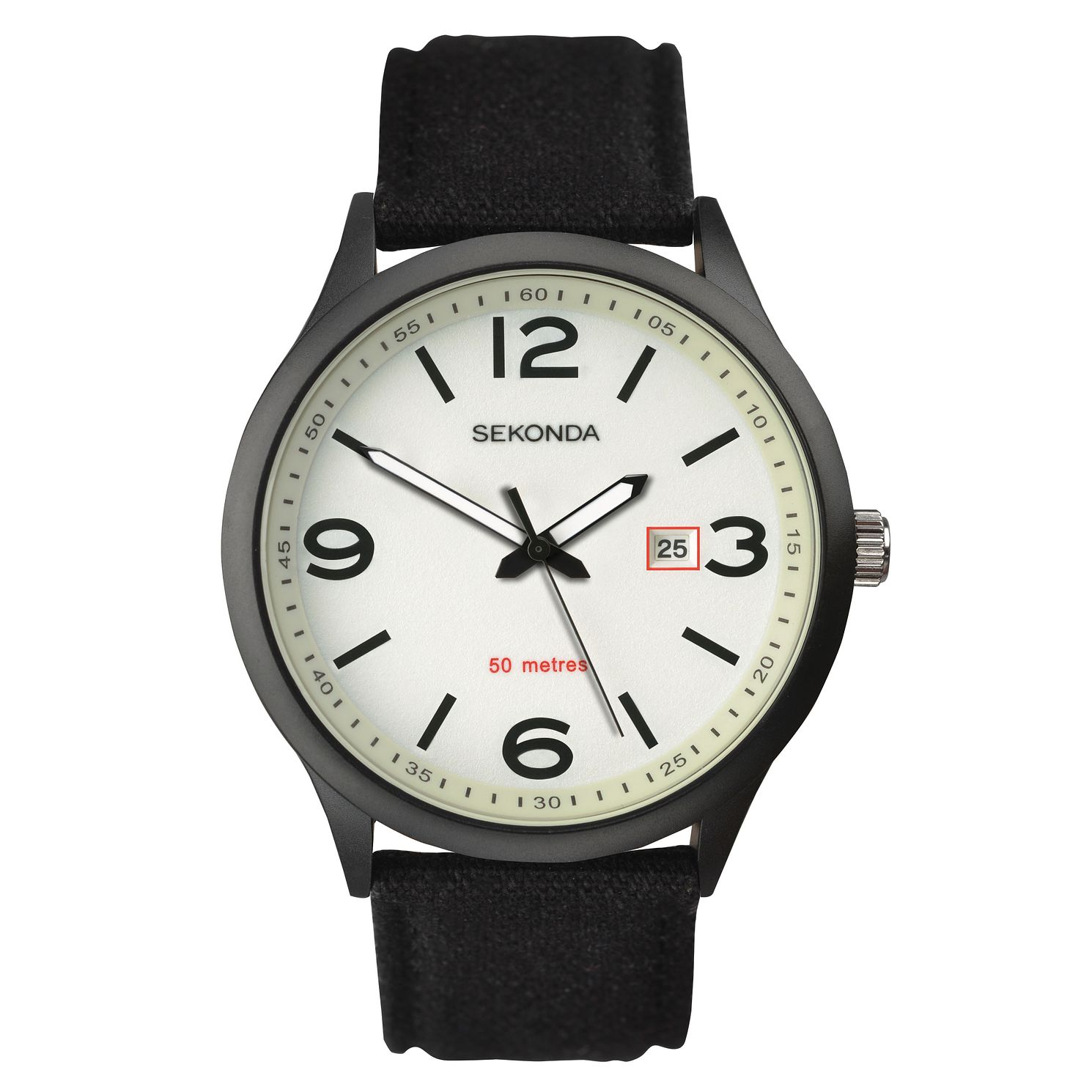 Sekonda Men's Black Nylon Strap Watch - Product number 8602557