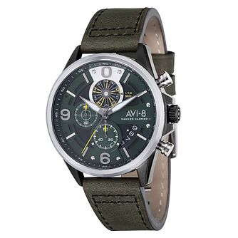 AVI-8 Men's Hawker Harrier II Brown Leather Strap Watch - Product number 8602875