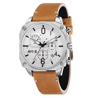 AVI-8 Men's Hawker Hunter Tan Leather Strap Watch - Product number 8602956