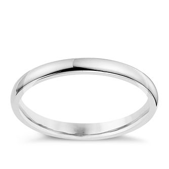 9ct White Gold 2mm Extra Heavyweight Court Ring - Product number 8603235