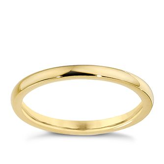 18ct Yellow Gold 2mm Super Heavyweight Court Ring - Product number 8603812