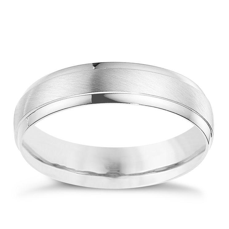 Palladium 950 5mm Matt & Polished Ring