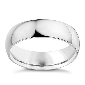 Platinum 6mm extra heavyweight D Shape ring - Product number 8604908