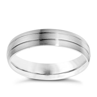 Palladium 950 5mm twin groove matt ring - Product number 8606749
