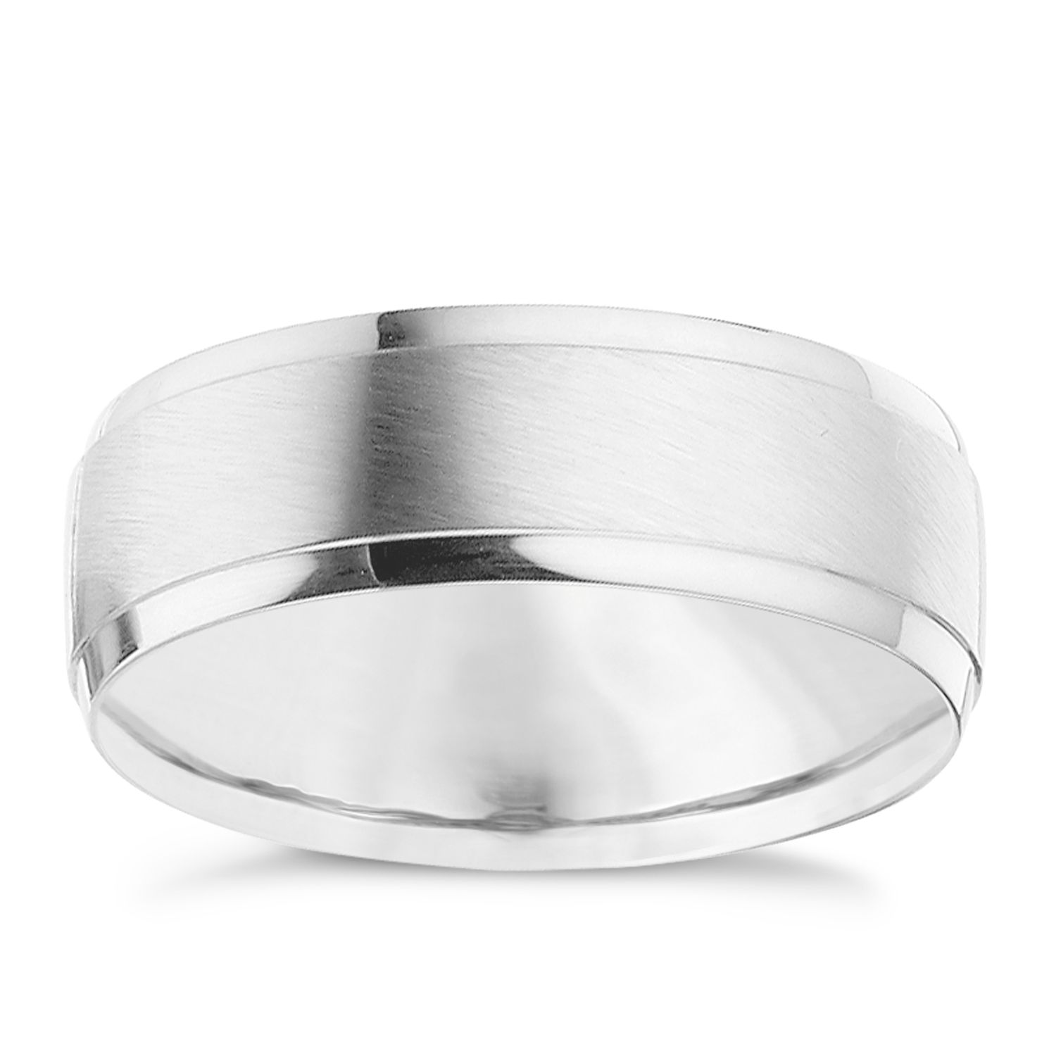 Palladium 950 7mm Matt & Polished Ring - Product number 8606765