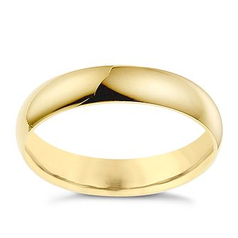 18ct Yellow Gold 4mm Extra Heavyweight D Shape Ring - Product number 8606781