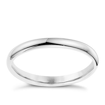 9ct White Gold 2mm Super Heavyweight Court Ring - Product number 8606838