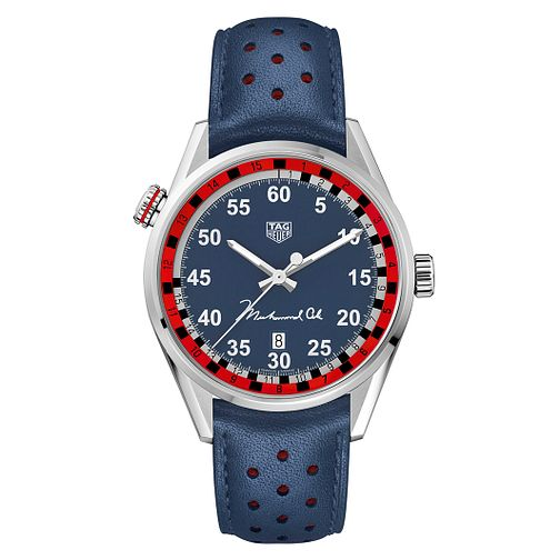 TAG Heuer Carrera Limited Edition Ali Blue Strap Watch - Product number 8609357
