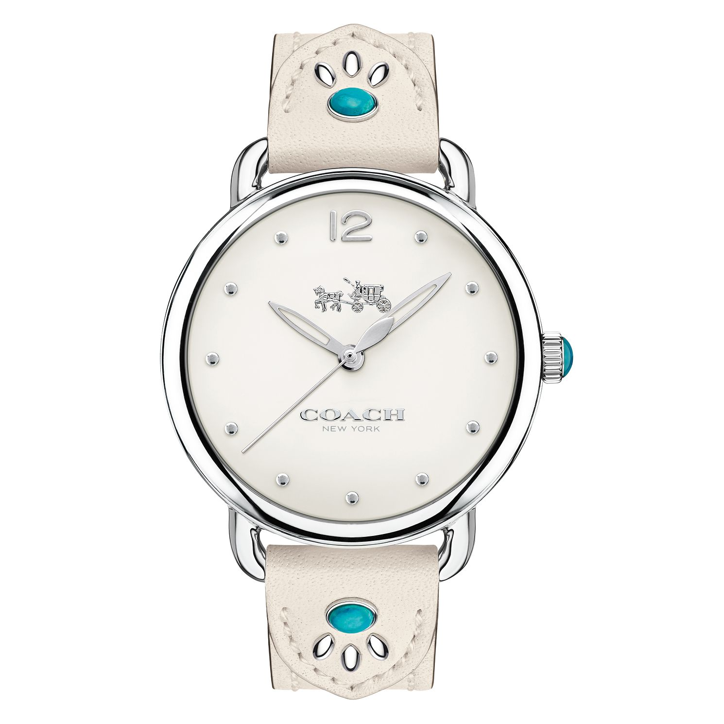 Coach Delancey Ladies' Turquoise Stone Strap Watch - Product number 8609438