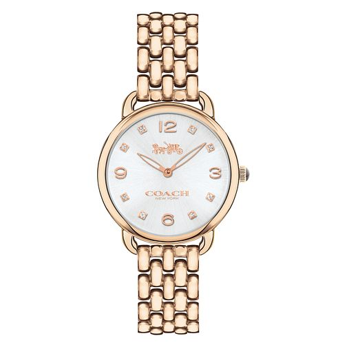 Coach Delancey Ladies' Rose Gold Tone Bracelet Watch - Product number 8609462