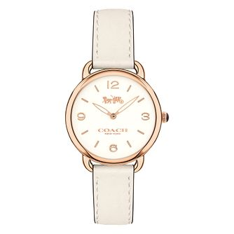 Coach Delancey Ladies' Rose Gold Tone Strap Watch - Product number 8609497