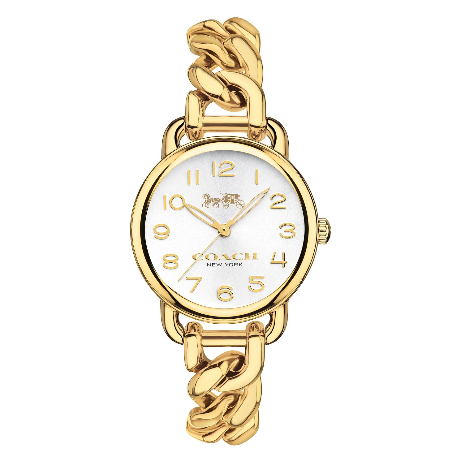 Coach Delancey Ladies' Yellow Gold Tone Rope Bracelet Watch - Product number 8609519