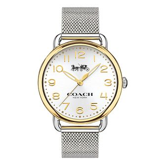 Coach Delancey Ladies' Yellow Gold Tone Bracelet Watch - Product number 8609527