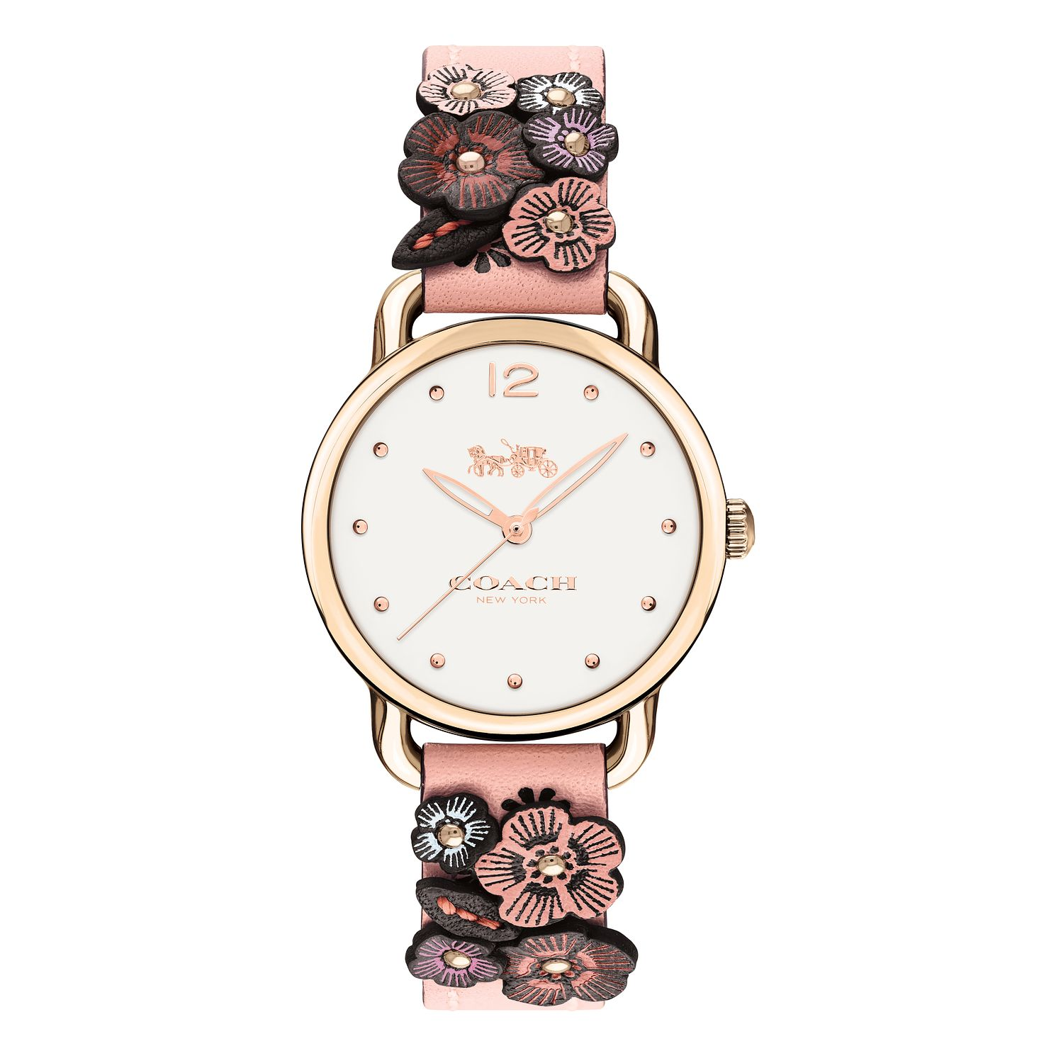 Coach Delancey Ladies' Rose Gold Tone Strap Watch - Product number 8609535