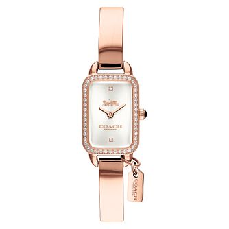 Coach Ludlow Ladies' Rose Gold Tone Stone Set Watch - Product number 8609608