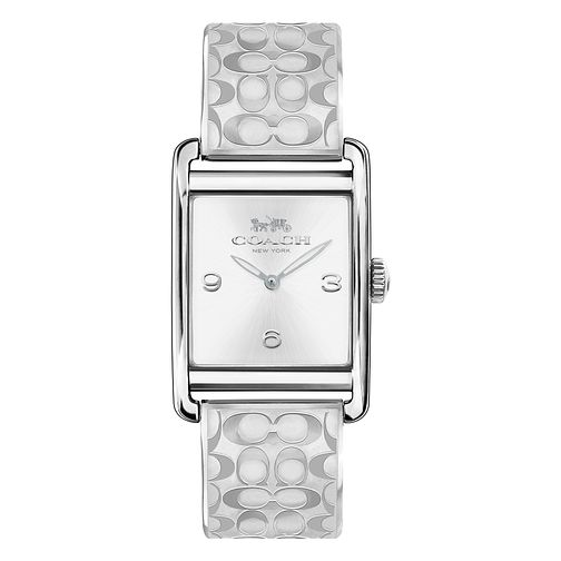 Coach Signature Ladies' Silver Tone Bracelet Watch - Product number 8609659