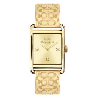 Coach Signature Ladies' Yellow Gold Tone Bracelet Watch - Product number 8609667