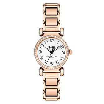 Coach Madison Ladies' Rose Gold Tone Stone Set Watch - Product number 8609705