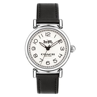 Coach Madison Ladies' Stainless Steel Black Strap Watch - Product number 8609713