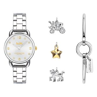 Coach Ladies' Stainless Steel Watch And Bracelet Gift Set - Product number 8609764