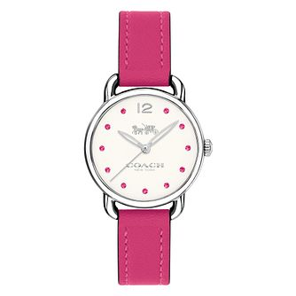 Coach Colour Ladies' Fuchsia Strap Watch - Product number 8609829