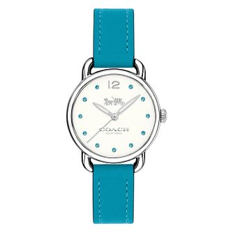 Coach Charm Ladies' Turquoise Stone Set Strap Watch - Product number 8609837