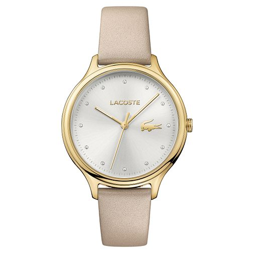 Lacoste Ladies' Cream Leather Strap Watch - Product number 8610533