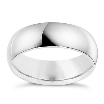 9ct White Gold 7mm Super Heavyweight Court Ring - Product number 8610894